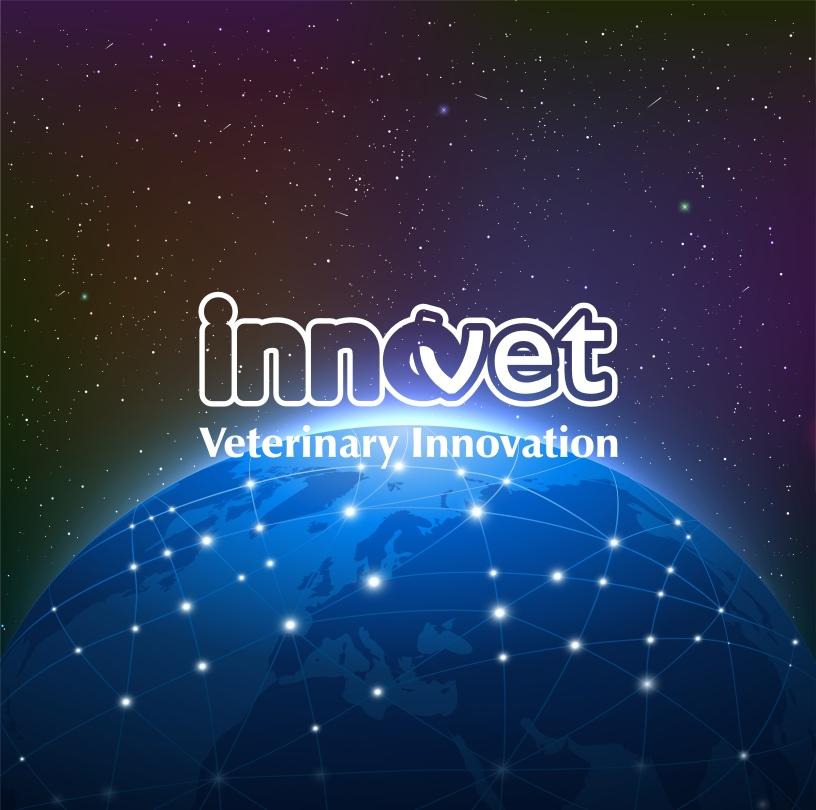 Logo innovet sopra immagine del mondo