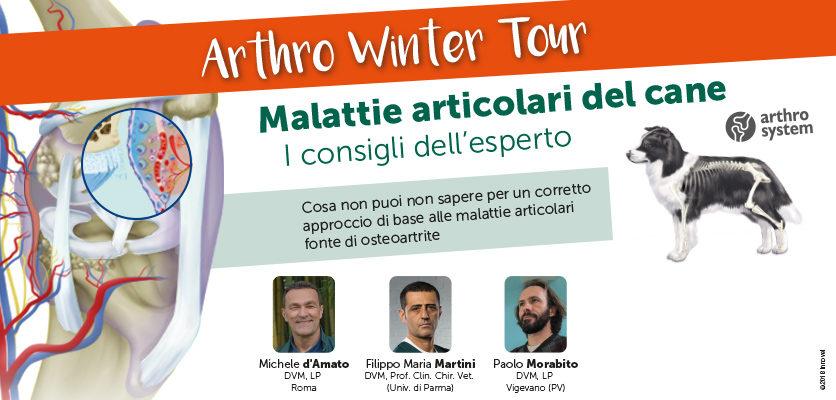 Arthro Winter Tour: 12 serate sulle malattie articolari del cane