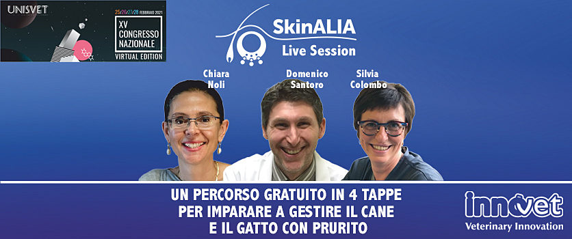 Skinalia® Live Session: 4 webinar gratuiti sul prurito del cane e del gatto.